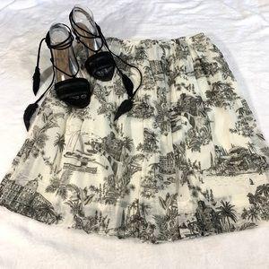 Tommy Bahama Marceau Toile Pleated Skirt